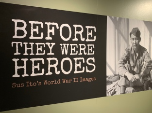 I really enjoyed this exhibit. The every day life photos from the war are compelling and innocent and very real to me.