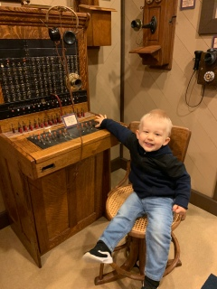 The folks at the museum were overly kind letting my little guy press all of the buttons.