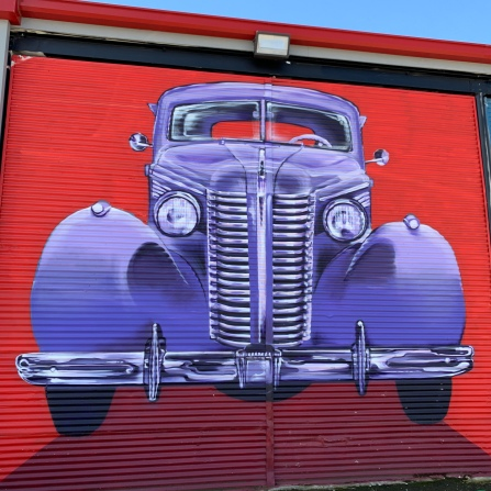 Some great street art on the front garage doors of the museum