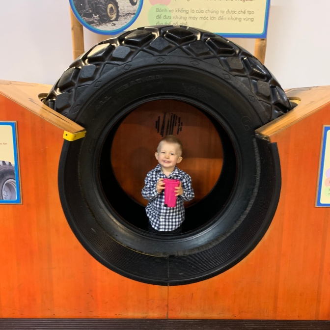 The museum did a fine job of incorporating displays, vehicles, and a childrens area to encourage parents and children to come and visit! Kudos. Start them young!